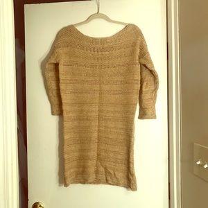 Knit muted gold Ralph Lauren sweater dress